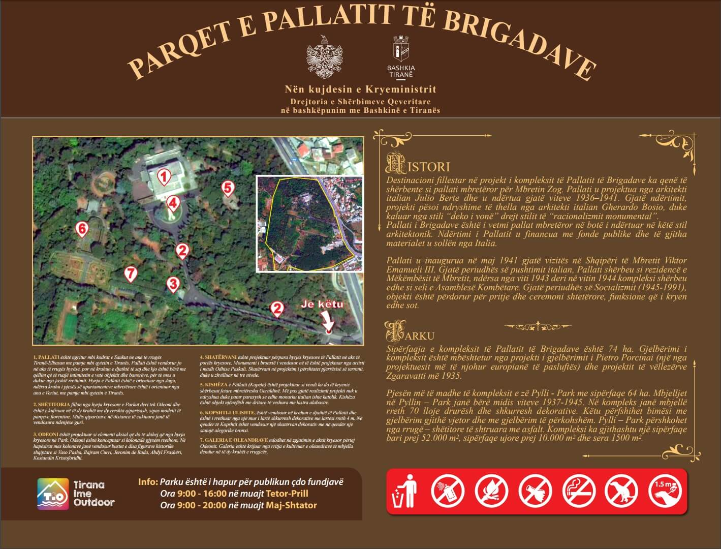 Parqet e Pallatit te brigadave